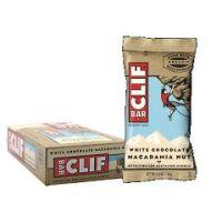 Clif Bar Natural Energy Bar - White Chocolate Macadamia Nut - Box of 12