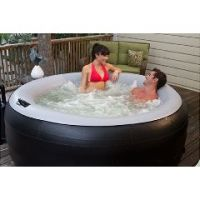 EZ Spa2Go Inflatable and Portable Whirlpool Spa - Black - Black