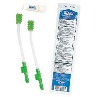 Single Use Suction Toothbrush System with Antiseptic Oral Rinse and Mouth Moisturizer