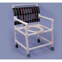 Shower/Commode Chair - Elongated Commode Seat