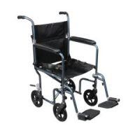 Flyweight Lightweight Transport Wheelchair with Removable Wheels - Flyweight Lightweight Red Transport Wheelchair with Removable Wheels