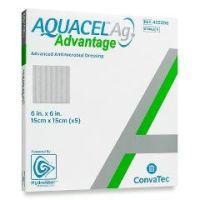 """AQUACEL® Ag Advantage Enhanced Hydrofiber Dressing with Silver 6x6"""" - Each"""