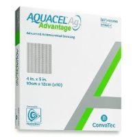"AQUACEL® Ag Advantage Enhanced Hydrofiber Dressing with Silver 4"" x 5"" - 4"" X 5"", Square"
