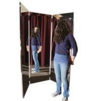 Glassless Mirror, Free-Standing Triple Panel