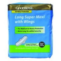 Long Super Maxi Pad With Wings - Case of 192