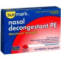 Sunmark Maximum Strength Non Drowsy Nasal Decongestant PE - Each