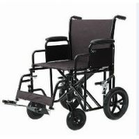 ProBasics Heavy-Duty Transport Wheelchair - Burgundy