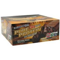 Worldwide Sport Nutritional Supplements Pure Protein High Protein Bar - Chocolate Deluxe - Pack of 12