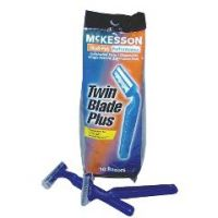 Twin Blade Plus Disposable Razors - Lubricated Strip  - Pack of 10