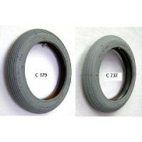 "Gray Pneumatic Rib Tire - 8 x 1 1/4"""