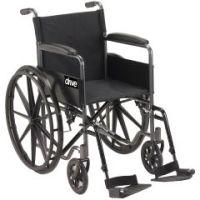 """Silver Sport Wheelchair 18"""" Wide x 16"""" Deep - Each"""