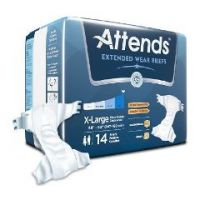 """Attends Extended Wear Adult Briefs  - X-Large 58"""" – 63"""""""