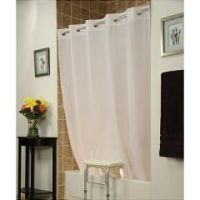 Invacare Benchbuddy Hookless Shower Curtain - White - Pack of 6